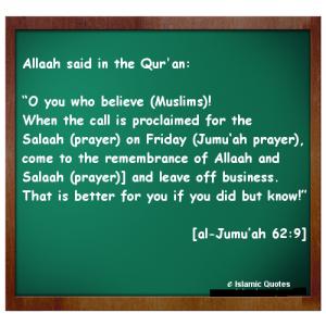 Importance of Jummah Prayer in Quran and Hadith